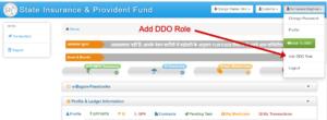 SIPF ADD - DDO ROLE